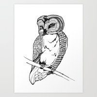 One little owl Art Print