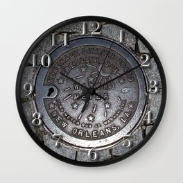 New Orleans Iron Water Utility Cover Wall Clock