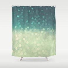 rain bokeh Shower Curtain