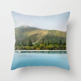 Kuto Bay Panorama on Isle of Pines, New Caledonia. Throw Pillow