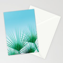 Airhead - memphis throwback retro vintage ombre blue palm springs socal california dreamer pop art Stationery Cards