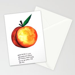 Peach Emoji Stationery Cards