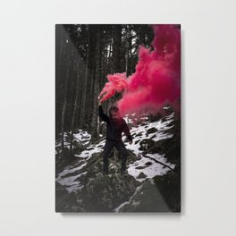 Black Monkey Pink Smoke Metal Print