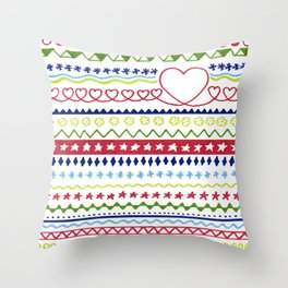 Classic Christmas pattern Throw Pillow