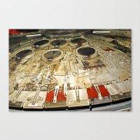 millenium falcon Canvas Prints featuring Millenium Falcon Body by Ewan Arnolda