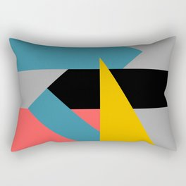 Color Block 4 - gold teal orange Rectangular Pillow