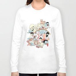 Heisei-era Raccoon Dog War Ponpoko Long Sleeve T-shirt