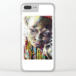 Reverie - Ethnic African portrait Clear iPhone Case