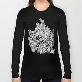 Zen Doodle 3A Snow White Long Sleeve T-shirt