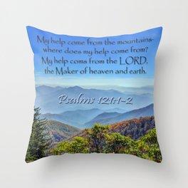 Psalms 121:1-2 Throw Pillow