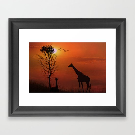 Sunset on the Plaines Framed Art Print