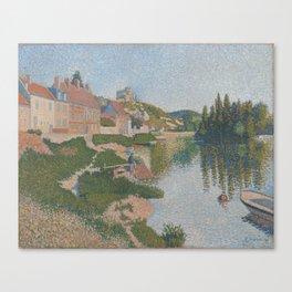 La berge ; Les Andelys Canvas Print