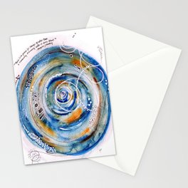Discovering What We Care About Abstract Watercolor Stationery Cards
