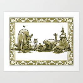 A Conglomeration of Curious Creatures Art Print
