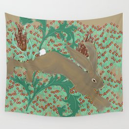 Rabbit in the Pimpernels Wall Tapestry