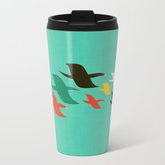Birds are flying Metal Travel Mug
