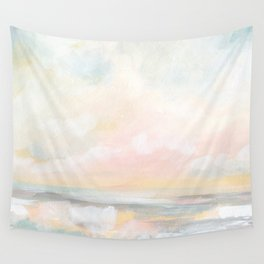 Rebirth - Pastel Ocean Seascape Wall Tapestry
