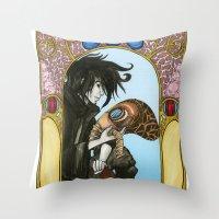 sandman Throw Pillows featuring Sandman: Dream by skritters
