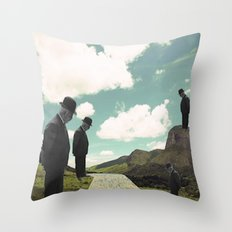 Watching the boats come home Throw Pillow