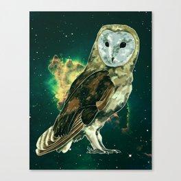 Cosmic Owl Canvas Print