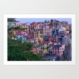 Cinque Terre at Dusk Art Print