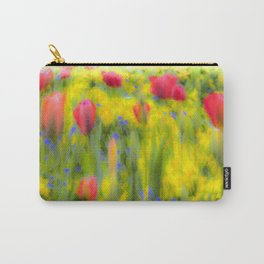 Pastel Summer Flowers  Carry-All Pouch