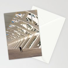Biker and the skeleton Stationery Cards