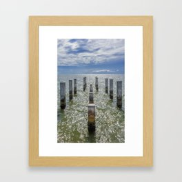 Pieces of an old pier Ship Island, Mississippi Framed Art Print