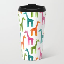 Giraffes Metal Travel Mug