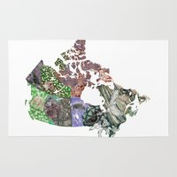 canada Area & Throw Rugs featuring Canada by minouette