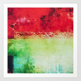Modern Texture Red Abstract Art Print