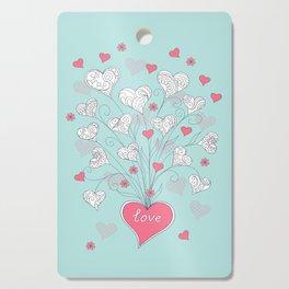 Valentine`s hearts Cutting Board