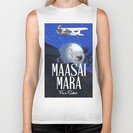 Maasai Mara Safari poster Biker Tank