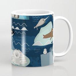 Arctic animals blue Coffee Mug