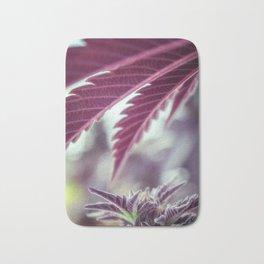 Covered in Cannabis marijuana plant weed photograph Bath Mat