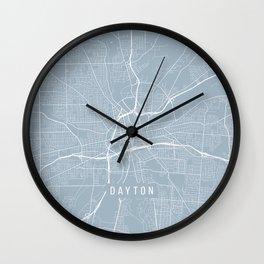 Dayton Map, USA - Slate Wall Clock