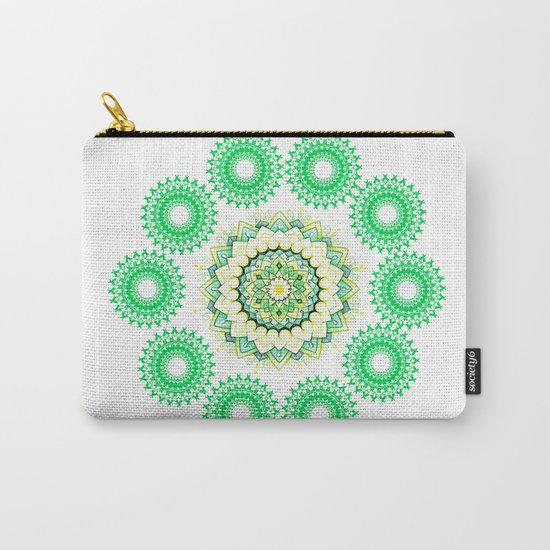 Anahata Flower Mandala Carry-All Pouch