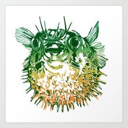 Puffy green Art Print