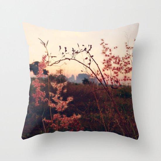 Desert Sakura Throw Pillow