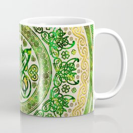 Celtic Butterfly - Round Ornament - Green and gold Coffee Mug