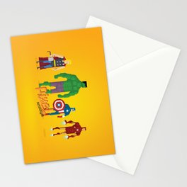 Super Heroes - Pixel Nostalgia Stationery Cards