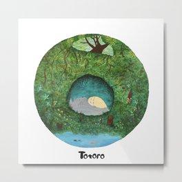 Totoro's Sleeping Forest Metal Print