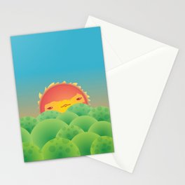 Sunlit Hills Stationery Cards