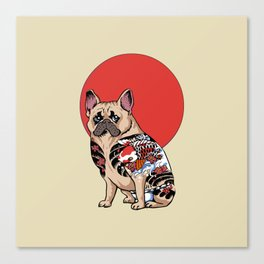 French Bulldog Yakuza Canvas Print