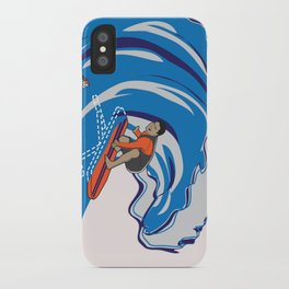 Pressing Waves iPhone Case