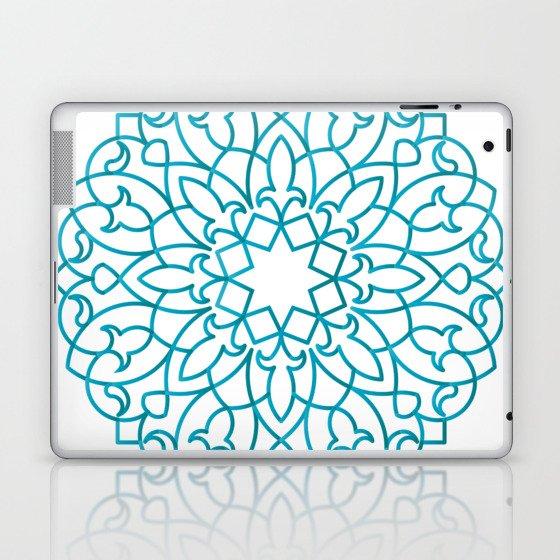 Turquoise Arabesque Laptop & iPad Skin