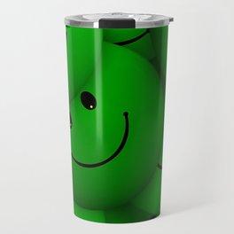 green Smileys Travel Mug