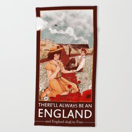 There'll Always Be an England Beach Towel