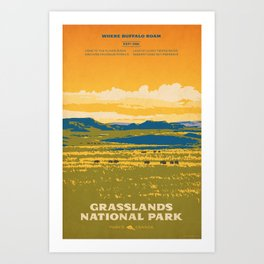 Grasslands National Park Poster Art Print