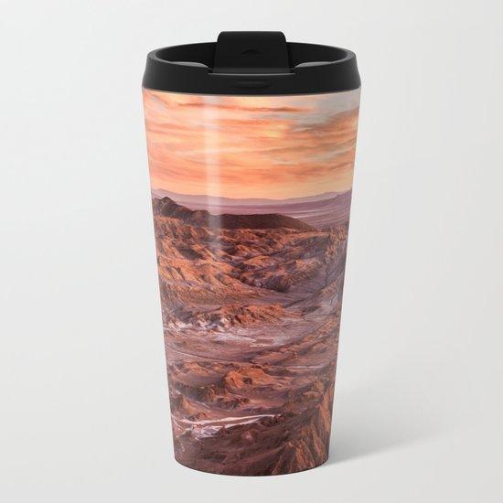 Desert orange Metal Travel Mug